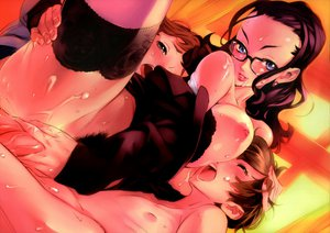 Rating: Explicit Score: 154 Tags: 2girls black_hair blue_eyes breasts brown_hair cum dendrobium glasses group nipples nishieda pubic_hair purple_hair sex stockings thighhighs uncensored vagina User: pantu