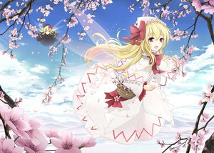 Rating: Safe Score: 115 Tags: cherry_blossoms clouds cloudy.r fairy flowers lily_black lily_white sky spring touhou User: FormX