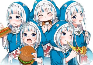 Rating: Safe Score: 49 Tags: blue_eyes blush food gawr_gura hololive hoodie ice_cream nakareki pizza popsicle short_hair white_hair wink User: otaku_emmy
