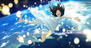 Rating: Safe Score: 81 Tags: barefoot black_hair dress earth ladic original planet space User: FormX