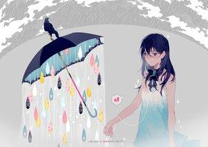 Rating: Safe Score: 104 Tags: aliasing animal crying dress original rain ryuutsuki_basetsu umbrella water wet User: Salri
