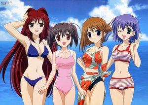 Rating: Safe Score: 43 Tags: aquaplus bikini clouds komaki_manaka kousaka_tamaki leaf red_eyes red_hair scan sky swimsuit to_heart to_heart_2 tonami_yuma water wink yuzuhara_konomi User: Oyashiro-sama