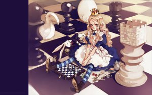 Rating: Safe Score: 24 Tags: alice_(wonderland) alice_in_wonderland animal_ears blonde_hair blue_eyes boots bunny dress littlewitch lolita_fashion long_hair oyari_ashito quartett! User: Oyashiro-sama