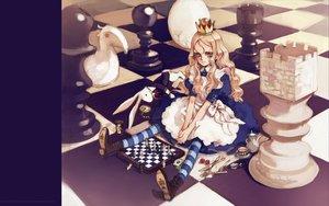 Rating: Safe Score: 34 Tags: alice_(wonderland) alice_in_wonderland animal_ears blonde_hair blue_eyes boots bunny dress littlewitch lolita_fashion long_hair oyari_ashito quartett! User: Oyashiro-sama