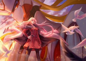 Rating: Safe Score: 41 Tags: animal aqua_eyes bird cape darling_in_the_franxx horns long_hair mecha pantyhose pink_hair uniform xilin zero_two User: RyuZU