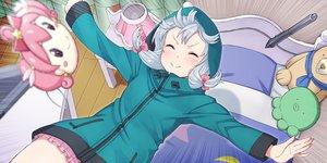 Rating: Safe Score: 25 Tags: bed eromanga-sensei gray_hair itou_(onsoku_tassha) izumi_sagiri loli long_hair teddy_bear waifu2x User: gnarf1975