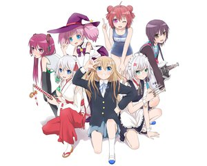 Rating: Safe Score: 114 Tags: akaza_akari cosplay funami_yui glasses group guitar hat headphones ikeda_chitose ikeda_chizuru instrument japanese_clothes katana knife k-on! maid miko school_swimsuit school_uniform sugiura_ayano suzumiya_haruhi_no_yuutsu sweeter_(h110111) swimsuit sword thighhighs toshinou_kyouko touhou vocaloid weapon white wink witch witch_hat yoshikawa_chinatsu yuru_yuri User: Wiresetc