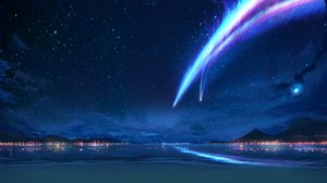 Rating: Safe Score: 13 Tags: beach kimi_no_na_wa landscape night scenic water User: luckyluna