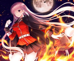 Rating: Safe Score: 63 Tags: bandage blush ecu8080 eyepatch fate/grand_order fate_(series) fire florence_nightingale gloves long_hair moon night pink_hair red_eyes skirt stars User: BattlequeenYume