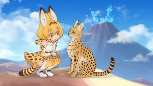 Rating: Safe Score: 30 Tags: animal animal_ears anthropomorphism cat catgirl kemono_friends landscape scenic serval User: MisakaImouto