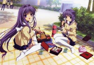 Rating: Safe Score: 43 Tags: clannad food fujibayashi_kyou fujibayashi_ryou twins User: atlantiza