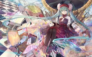 Rating: Safe Score: 72 Tags: bai_qi-qsr hatsune_miku long_hair vocaloid watermark User: Flandre93