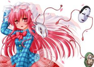 Rating: Safe Score: 67 Tags: hata_no_kokoro kotowari_(artist) long_hair mask pink_hair touhou User: Wiresetc