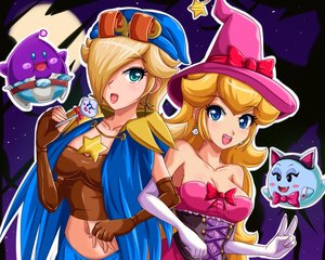 Rating: Safe Score: 53 Tags: animal_ears aqua_eyes blonde_hair blue_eyes boo bow breasts cleavage corset cosplay cropped elbow_gloves gloves halloween hat lubba navel princess_peach ribbons rosalina sigurdhosenfeld super_mario User: mattiasc02