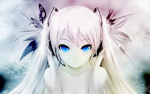 Rating: Safe Score: 734 Tags: blue_eyes cait hatsune_miku headphones photoshop polychromatic snow twintails vocaloid white_hair User: Mund