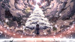 Rating: Safe Score: 183 Tags: armor blue_hair blush elbow_gloves gloves sachi_(sao) sachi_(sword_art_online) short_hair sky snow sword_art_online tagme tears tree yuuri_nayuta User: opai