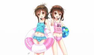 Rating: Questionable Score: 151 Tags: 2girls bikini blush brown_hair gotou_hisashi ikazuchi_(kancolle) inazuma_(kancolle) kantai_collection loli navel swimsuit User: gnarf1975