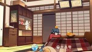 Rating: Safe Score: 36 Tags: aqua_eyes black_hair crystal_dew_world japanese_clothes kirino_kasumu kotatsu sleeping suishou_shizuku watermark User: gnarf1975