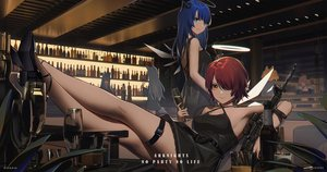 Rating: Safe Score: 93 Tags: animal_ears arknights blue_hair croissant_(arknights) dress drink exusiai_(arknights) green_eyes gun halo long_hair mostima_(arknights) orange_eyes red_hair short_hair sora_(arknights) tagme_(character) weapon white_hair wings xtears_kitsune User: BattlequeenYume