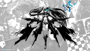 Rating: Safe Score: 89 Tags: black_hair black_rock_shooter blue_eyes kuroi_mato weapon User: DevAl
