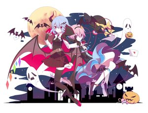 Rating: Safe Score: 51 Tags: 2girls animal bat bow breasts cape cleavage dress drink fang gloves halloween horns komeiji_satori moon pink_eyes pink_hair pumpkin red_eyes remilia_scarlet short_hair skirt tagme_(artist) thighhighs touhou vampire white_hair wings User: BattlequeenYume