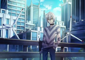 Rating: Safe Score: 15 Tags: accelerator all_male aneunyeoja building city clouds male red_eyes short_hair sky to_aru_majutsu_no_index white_hair windmill User: RyuZU