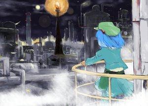 Rating: Safe Score: 16 Tags: blue_hair building city hat industrial kawashiro_nitori moon night sape_(saperon_black) short_hair skirt sky touhou twintails User: PAIIS