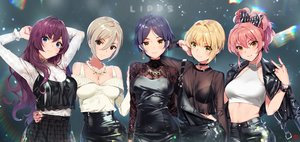 Rating: Safe Score: 127 Tags: black_eyes blonde_hair blue_eyes bow bra choker cross dress gray_hair green_eyes group hayami_kanade ichinose_shiki idolmaster idolmaster_cinderella_girls jougasaki_mika long_hair miyamoto_frederica navel necklace orange_eyes pink_hair purple_hair rainbow see_through shiomi_shouko short_hair signed skirt underwear yang-do yellow_eyes User: RyuZU