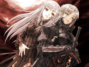 Rating: Safe Score: 8 Tags: armor dark_matou_sakura fate/stay_night matou_sakura saber saber_alter User: Oyashiro-sama