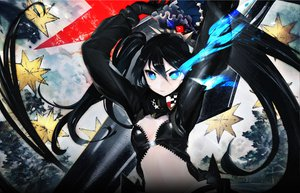 Rating: Safe Score: 161 Tags: black_hair black_rock_shooter black_rock_shooter_arcana blue_eyes huke kuroi_mato long_hair navel twintails User: Drakeo