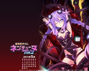 Rating: Safe Score: 106 Tags: blue_eyes braids calendar cleavage hyperdimension_neptunia_mk2 long_hair neptune purple_hair purple_heart torn_clothes tsunako User: meccrain