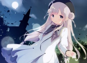Rating: Safe Score: 70 Tags: cross dress gray_eyes long_hair moon night scan shiratama white_hair User: mattiasc02