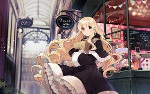 Rating: Safe Score: 80 Tags: bicolored_eyes blonde_hair candy cape dress goth-loli hoodie ikeuchi_tanuma lolita_fashion long_hair original User: BattlequeenYume