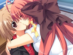 Rating: Safe Score: 27 Tags: anekano brown_hair game_cg kiss moo noyama_kaede noyama_ringo red_hair User: oranganeh