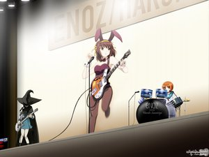 Rating: Safe Score: 49 Tags: animal_ears brown_eyes brown_hair bunny_ears bunnygirl cosplay drums guitar hat instrument microphone music nagato_yuki okajima_mizuki pantyhose short_hair suzumiya_haruhi suzumiya_haruhi_no_yuutsu witch_hat User: Oyashiro-sama
