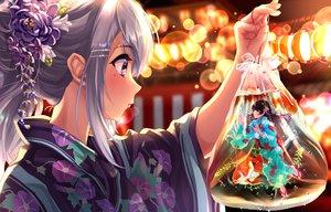 Rating: Safe Score: 86 Tags: 2girls animal black_hair blush close festival fish flowers gray_hair higuchi_kaede japanese_clothes long_hair nijisanji ponytail purple_eyes summer tdnd-96 tsukino_mito underwater water yukata User: otaku_emmy