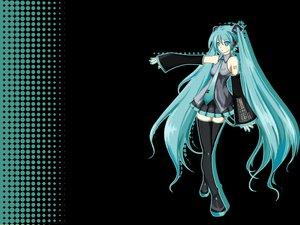 Rating: Safe Score: 72 Tags: aqua_eyes aqua_hair hatsune_miku long_hair skirt thighhighs tie twintails vocaloid User: Anpan