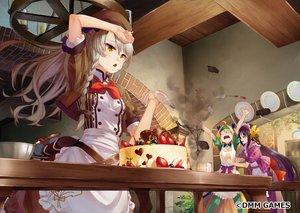 Rating: Safe Score: 70 Tags: anthropomorphism apron braids cake flower_knight_girl food fruit komugi_(flower_knight_girl) saraki strawberry tagme_(character) waifu2x User: BattlequeenYume
