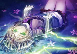 Rating: Safe Score: 113 Tags: flowers green_eyes minamura_halki mizuhashi_parsee pointed_ears touhou water wet User: HawthorneKitty