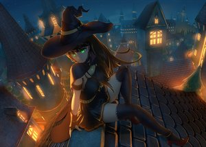 Rating: Safe Score: 82 Tags: breasts brown_hair building cape city gloves green_eyes halloween hat idolmaster idolmaster_cinderella_girls jay_zhang long_hair night scenic shibuya_rin thighhighs witch witch_hat User: RyuZU