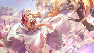Rating: Safe Score: 23 Tags: blonde_hair blush bow dress elise_(piclic) fairy hat lily_white long_hair signed touhou tree wings User: RyuZU