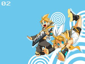 Rating: Safe Score: 21 Tags: blue kagamine_len kagamine_rin mknown vocaloid User: anaraquelk2