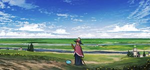 Rating: Safe Score: 50 Tags: clouds grass hat jumpei99 landscape original scenic sky staff witch witch_hat User: FormX