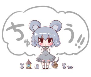 Rating: Safe Score: 24 Tags: animal animal_ears chibi gray_hair maitora mouse mousegirl nazrin red_eyes short_hair tail touhou white User: SciFi