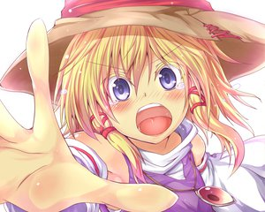 Rating: Safe Score: 30 Tags: blonde_hair blue_eyes blush close hat moriya_suwako oukawa_yuu short_hair touhou User: SciFi