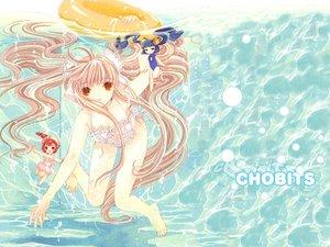 Rating: Safe Score: 20 Tags: chii chobits kotoko sumomo swimsuit User: Oyashiro-sama