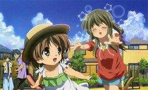 Rating: Safe Score: 15 Tags: blush clannad dress hat ibuki_fuuko ibuki_kouko okazaki_tomoya okazaki_ushio scan short_hair takahashi_mariko User: Maho