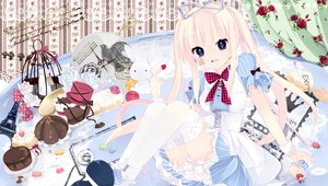 Rating: Safe Score: 55 Tags: alice_(wonderland) alice_in_wonderland cake dress flowers food original pink_hair sakuragi_yuzuki tagme thighhighs User: opai