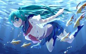 Rating: Safe Score: 47 Tags: animal aqua_hair blue_eyes bubbles fish hatsune_miku long_hair school_uniform syego twintails underwear vocaloid User: luckyluna
