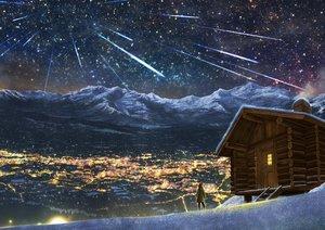 Rating: Safe Score: 79 Tags: building city kupe landscape night original scenic sky snow stars winter User: RyuZU